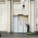 Fassaden Reinigung mit Hochdruckreiniger
