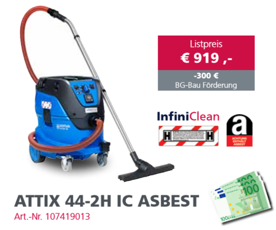 Nilfisk Attix 44-2H IC Asbest